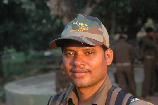 A forest guard in India
