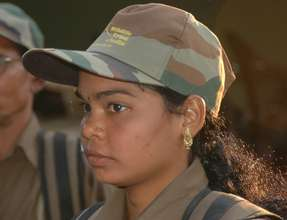 A woman forest guard in India