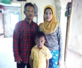 Bibah with her small family