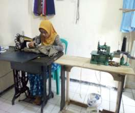 Bibah working room at her house