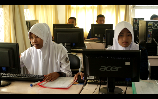 Computer Class Students at the VTC
