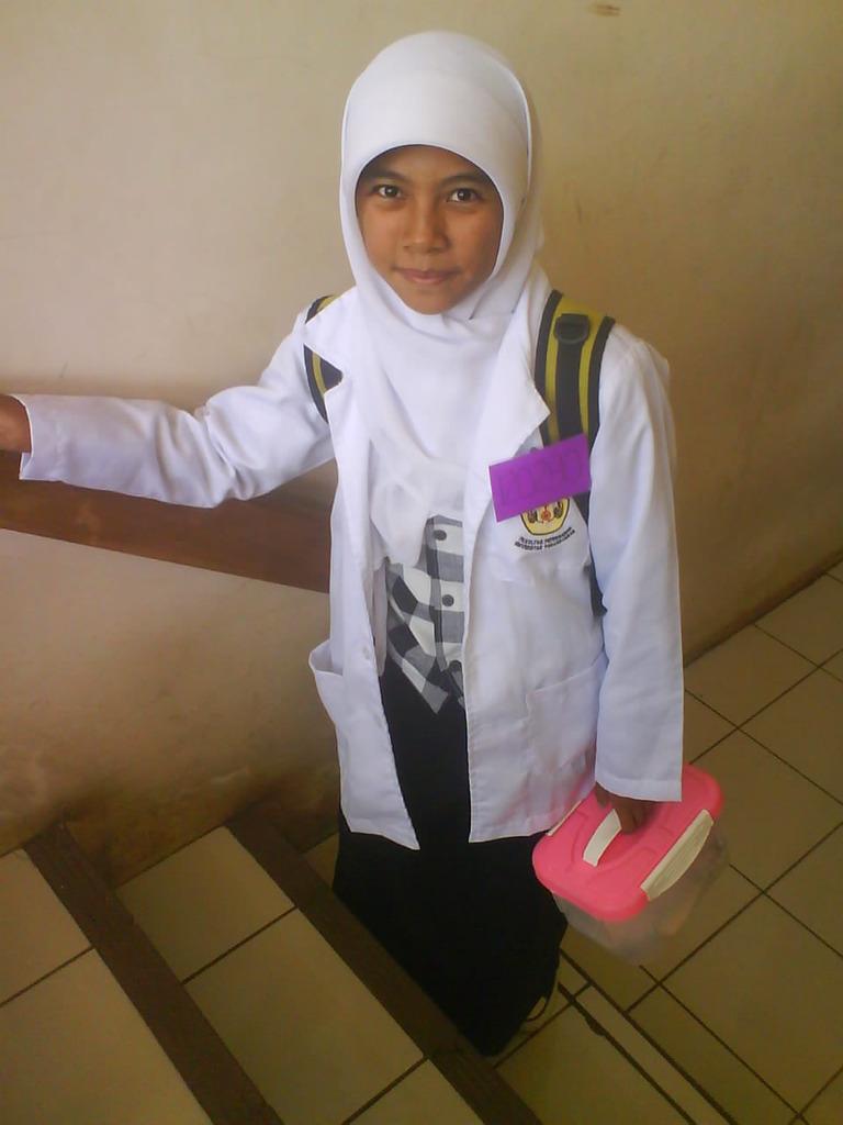 Erin after practicum in her college