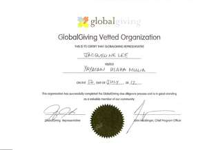 GlobalGiving Certificate