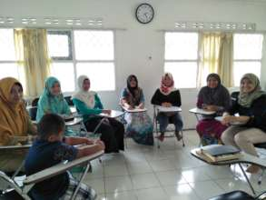Meeting before working on the sewing project