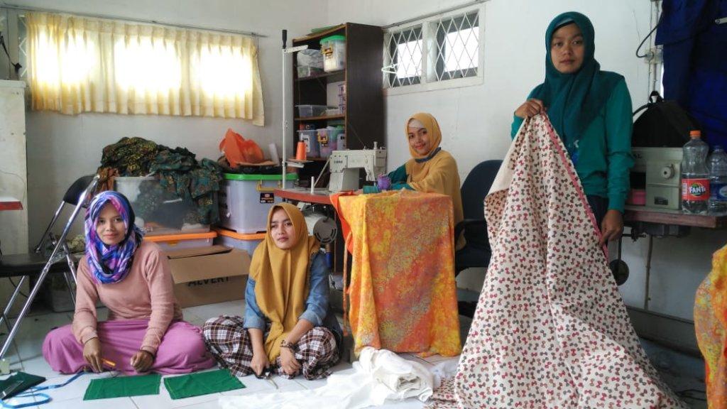 Sewing workshop room
