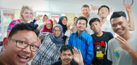 Grace and John with VTC's Cipanas students