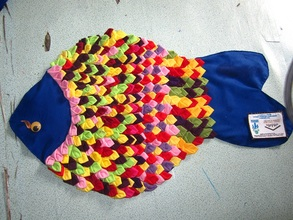 Doormats from patchwork T-shirt from Sewing Class