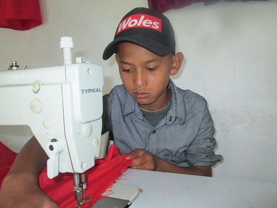 Practical test in Sewing Class