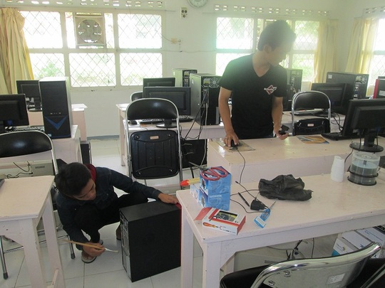 Setting up the new computers