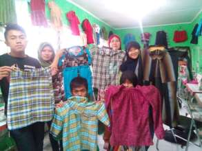 Intermediate Sewing class students works