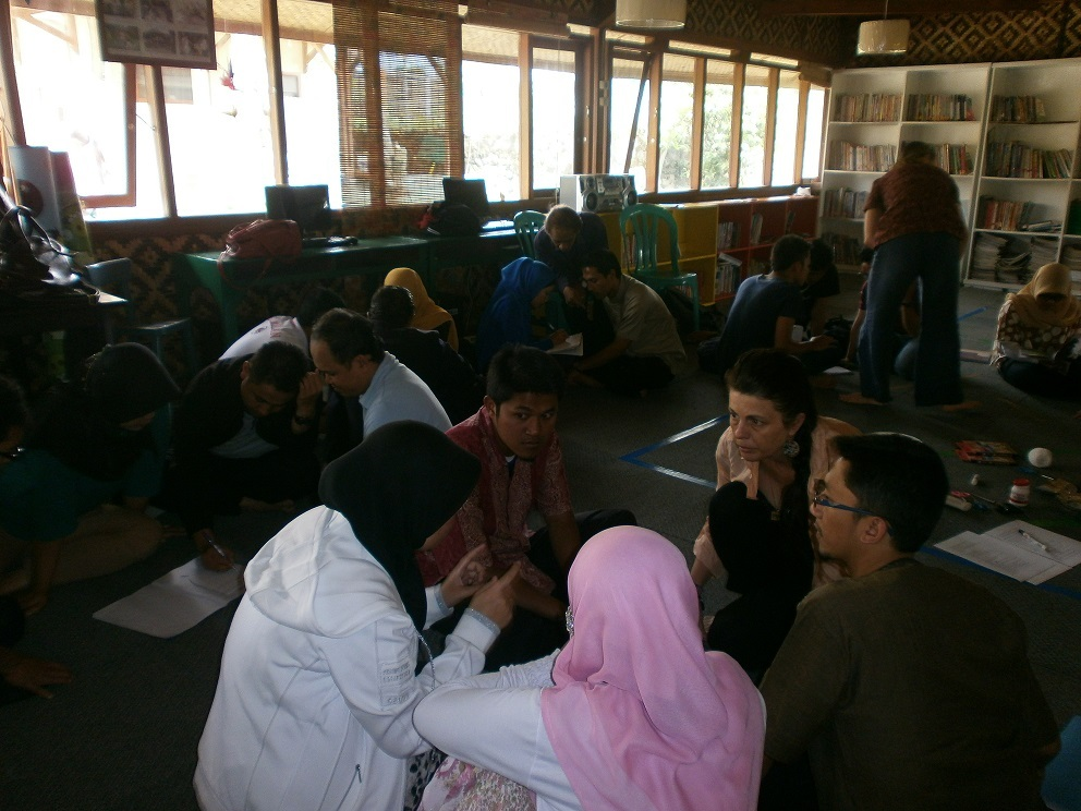 Group discussion in English Teacher Workshop