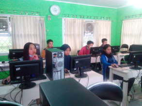 The students are very serious in the class