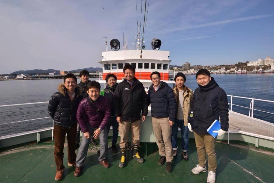 Fieldwork in Kesennuma, a large fishing town