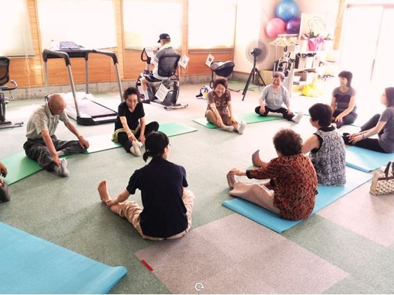 local people come to their class for exercise