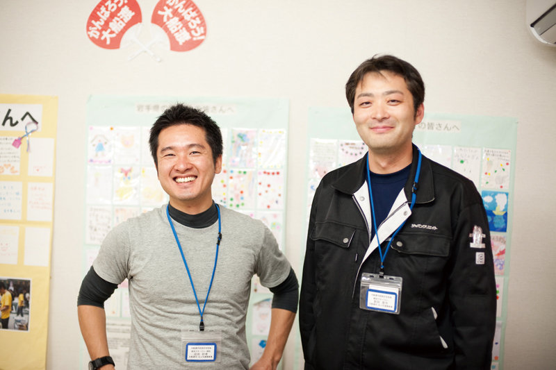 Mr. Narita (left) with Mr. Nitta, his colleague