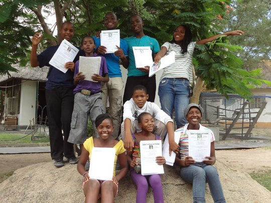End of the week, proudly holding certificates