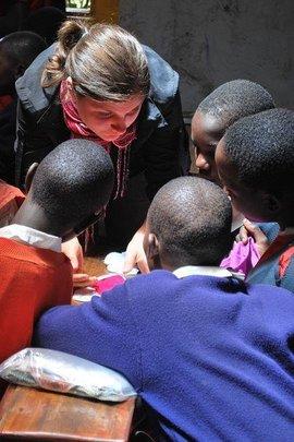 Masaai Girls Learn How to Use Kits