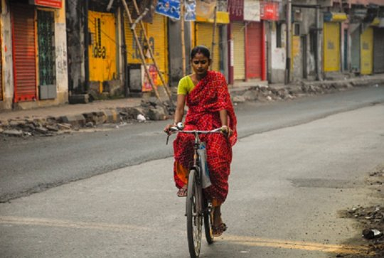 Women Manufacturing Biodegradable Sanitary Pads