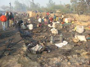 What's left of the Ghazipur Dairy Slum