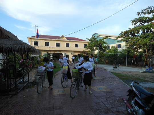 Using the bicycles you helped us donate last year