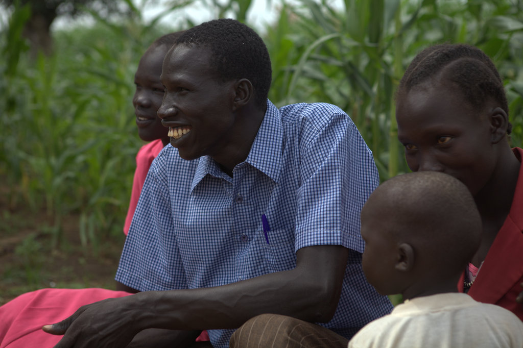 Akot Ajoik cares for his students and his farm.