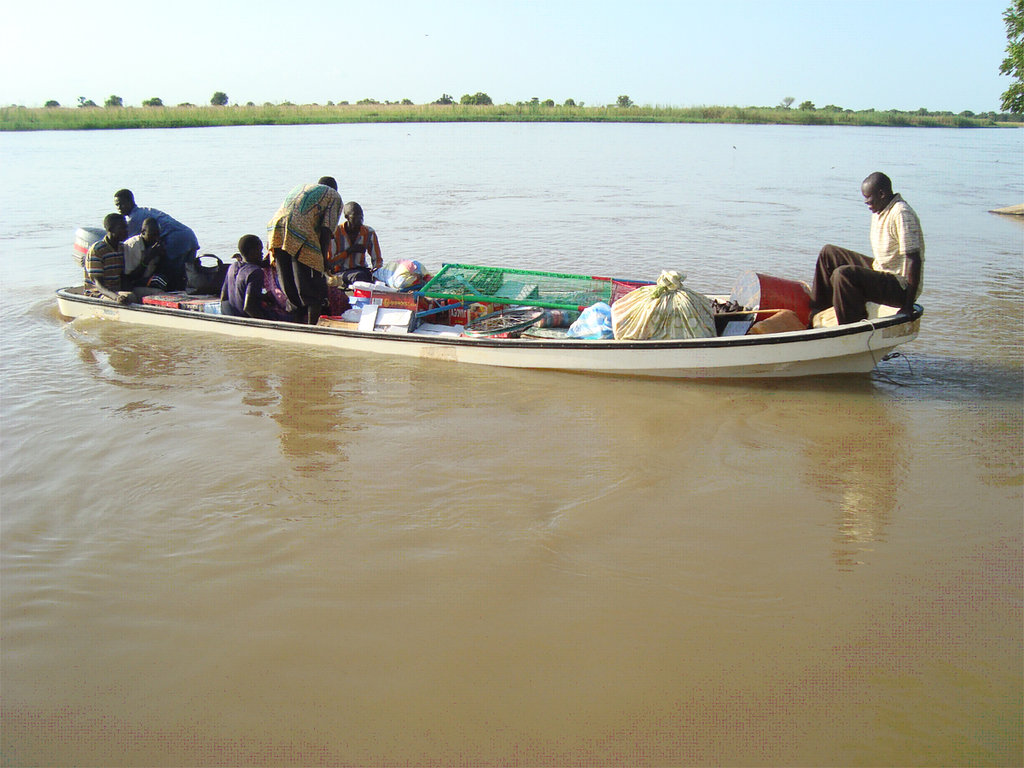 River boats help businesses reach villages.