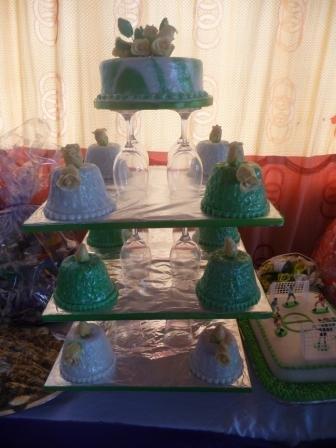 Graduands wedding cake exhibited