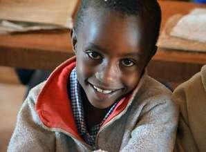 Second grader at Mutaki Primary