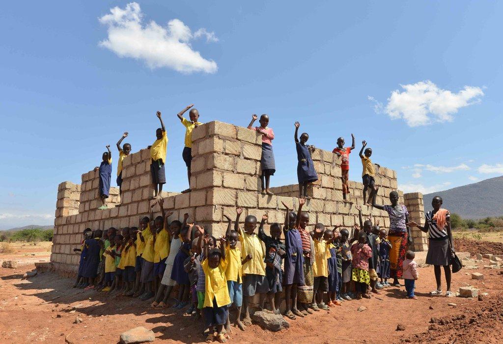 Walls going up on remote Alamach Preschool