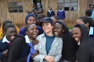 Christy Pipkin with Senior Class Girls at Simbara