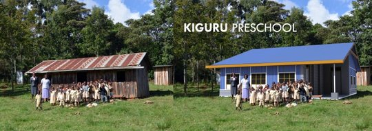 Kiguru Preschool - before and the new design