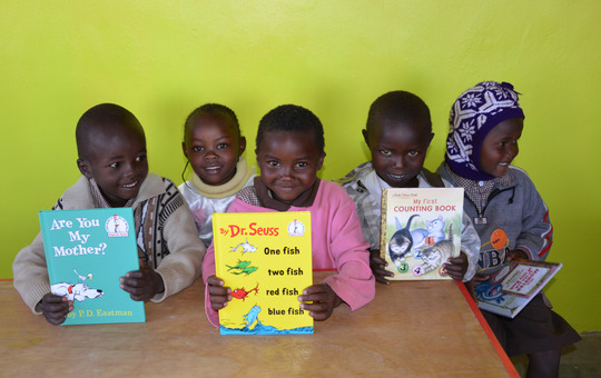 New books at beautiful Mugaka Hill Preschool