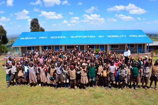 Gorgeous new classrooms at Mugaka Primary