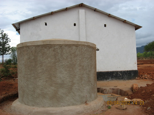 New Ferro-cement water tank at Mutaki