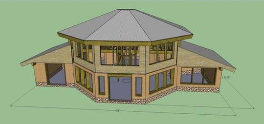 Paha Wakan house design for Joe Fast Horse