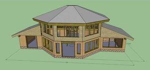 Paha Wakan house design for Joe Fast Horse
