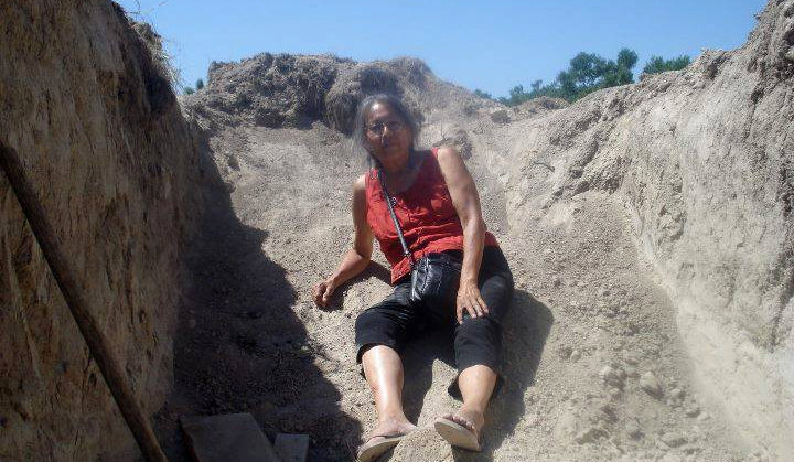 Project Leader Christinia Eala at the build site