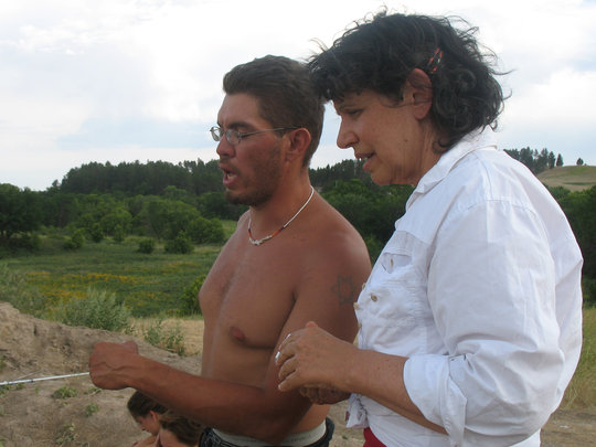 Chris Eala with me at Wounded Knee