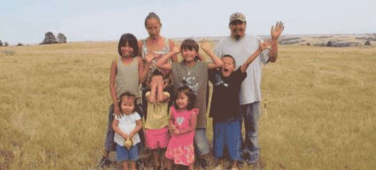 Joe, Lena and kids on children's safe house land