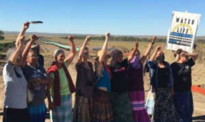 1st 10 of 1000 grandmothers at Standing Rock