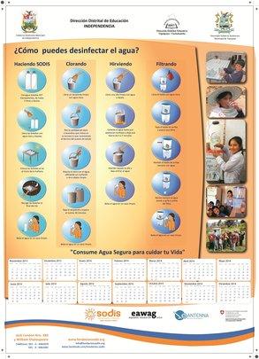 Calendar promoting 4 water disinfection methods