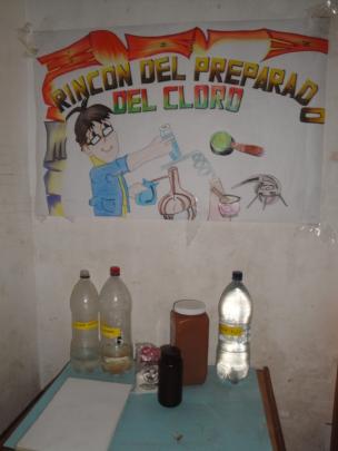 Chlorine method and safe drinking corner