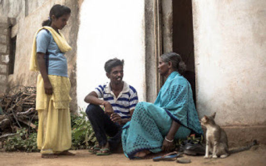 After his dad's death,Keerthi's mom was a labourer