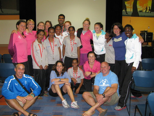 Julie Foudy and her amazing staff with the team!