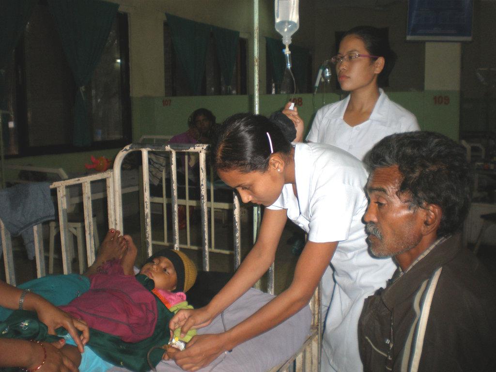 Training to become a nurse