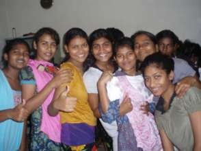 Girls at safe home. Education and a chance at life
