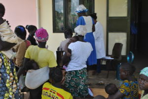Immunisation day at Agonga health facility