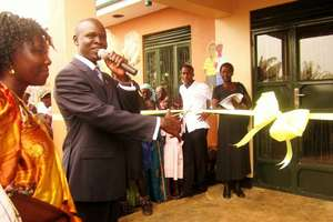opening the health centre gulu