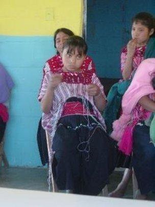 Girl Weaving