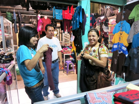 Johanny and Jemima shopping for gifts
